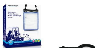CWPBTABAP Waterproof Tablet Bag With Audio Passthrough