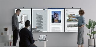microsoft Surface Hub 2 trabajo colaborativo