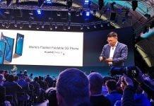 Smartphone plegable 5GHuawei Mate X sorprende en el MWC 19