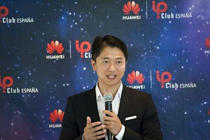 Vicente Zhong, subdirector de la Unidad de Negocio de Empresas de Huawei Iberia, durante la inauguración de la primera edición del IP Club en Barcelona.