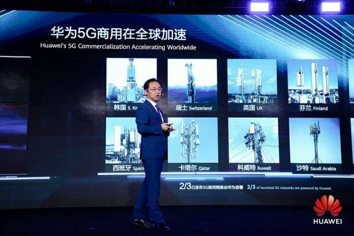 Ryan Ding,  huawei contratos comerciales de 5g estaciones base