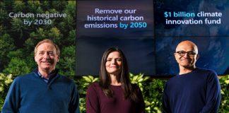 Microsoft más sostenible que nunca, con la eliminación de su huella de CO2