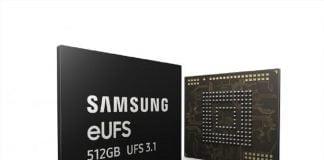 Samsung memoria eUFS 3.1
