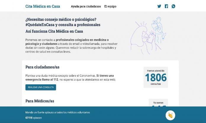 Citamedicaencasa.es, medicina y psicología gratuita de forma online