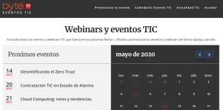 Calendarios eventos y webinars TIC Byte TI