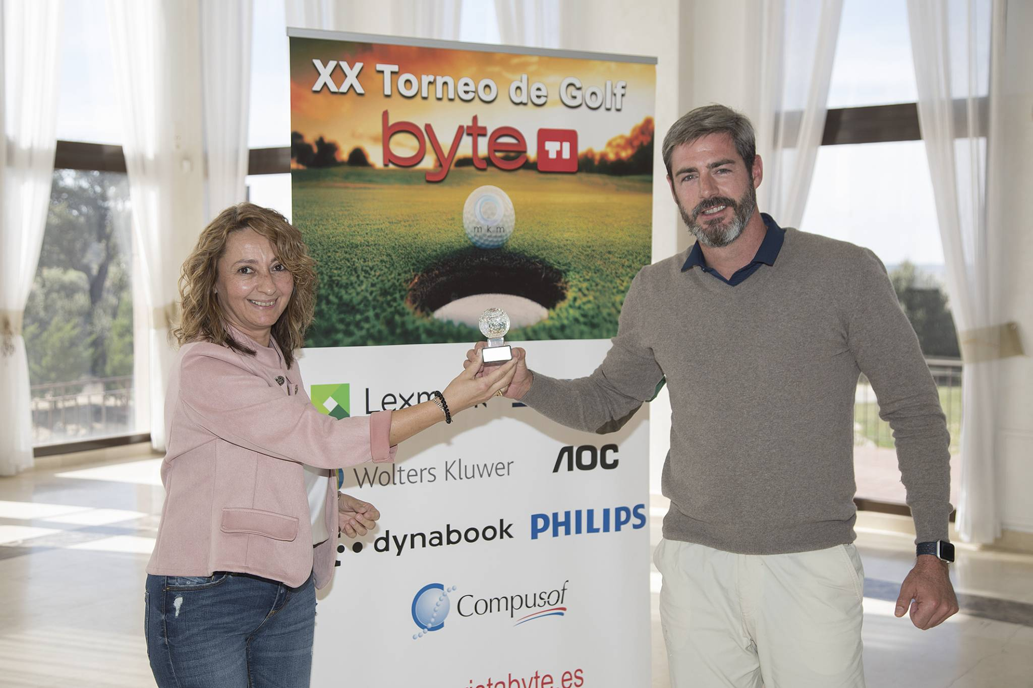 Antonio Mateo, Senior Manager AMG & Associated, ganador Drive más largo Torneo de Golf Byte TI 2020